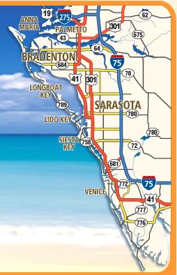 Sarasota & denton Area Maps - Interactive Sarasota ... on frostproof map, holmes map, cape coral map, narcoossee map, myakka map, tamiami fl map, grayton beach on map, fort myers map, siesta key map, tampa area map, ontario intl airport map, florida map, boca grande map, warm mineral springs map, anna maria map, longboat map, jacksonville map, lakewood park map, lido key map, lake okeechobee map,
