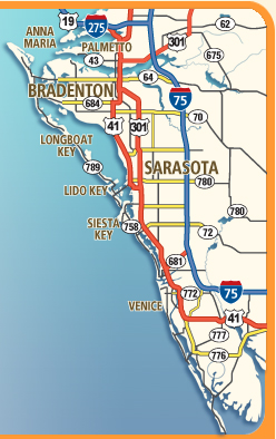 Map Of Florida Sarasota.Print Out Sarasota Florida Map Bradenton Florida Map Also Siesta